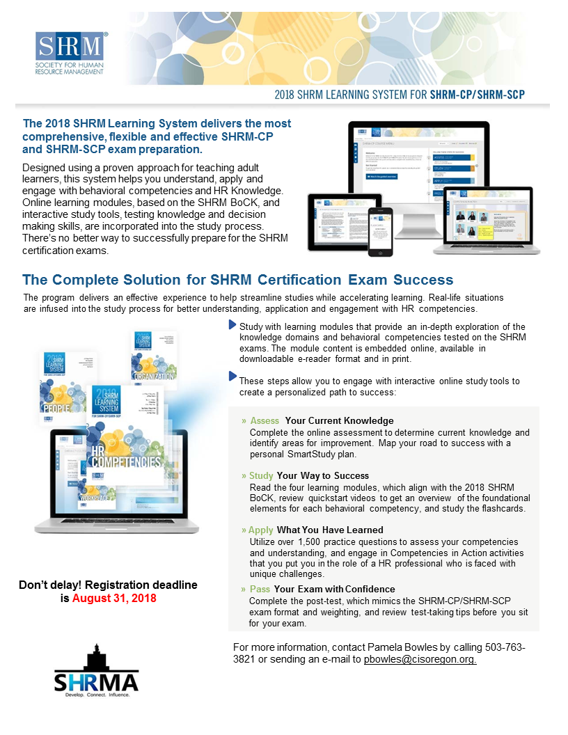 2018 Complete Solution for SHRM Certification Exam Success